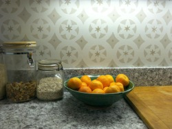 Patina kitchen with oranges